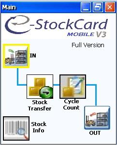 Mobile Inventory Control Software | Main Screen