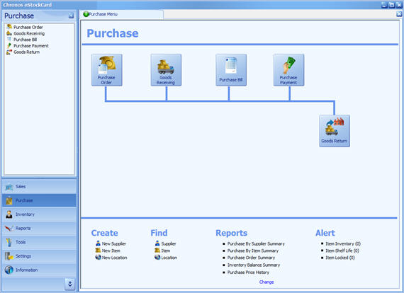 eStockCard Inventory System is a Business Inventory Software to manage Purchasing Management Process