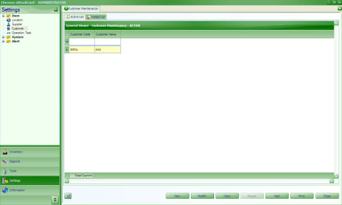 Customer setting inventory software